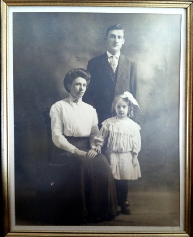 Peter, Ellen Beeley and Ellen's daughter Elizabeth Nevins in 1910